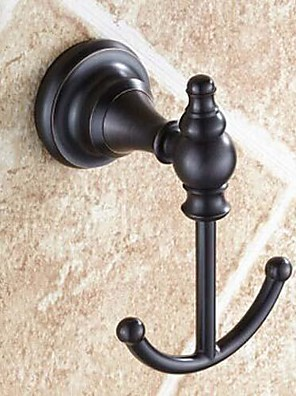 Montage mural double Round End or huilé Hook Finish Bronze Robe