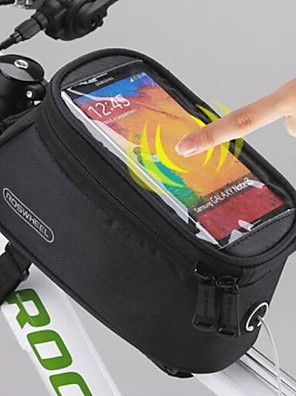 ROSWHEEL® Bolsa de Bicicleta 1.5LBolsa Celular / Bolsa para Quadro de Bicicleta Á Prova-de-Água / Touch Screen Bolsa de Bicicleta