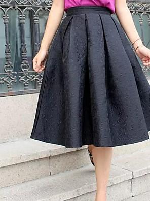 Women's Vintage Black/Red Jacquard Posed Skirts