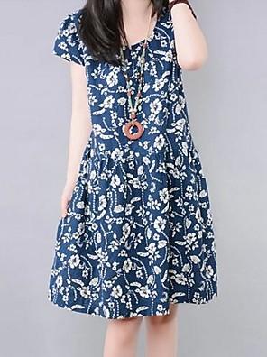 Maternitiy Casual barevného tisku Loose šaty