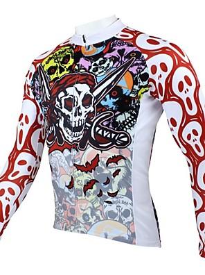 PALADIN® חולצת ג'רסי לרכיבה לגברים שרוול ארוך אופניים נושם / שמור על חום הגוף / ייבוש מהיר / עמיד אולטרה סגול ג'רזי / צמרותפוליאסטר /