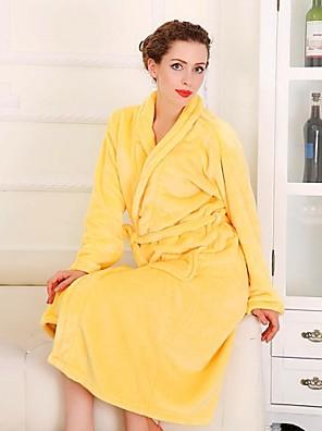 Badekåbe Gul,Solid Høj kvalitet 100% Koral Fleece Håndklæde