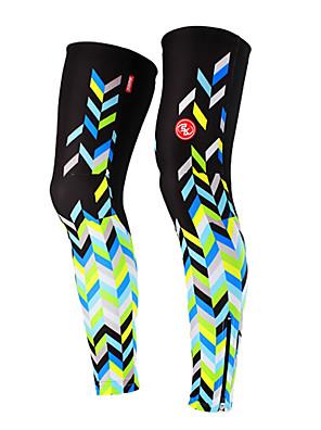 מחממי רגליים אופנייים נושם / עמיד אולטרה סגול / לביש / קרם הגנה לנשים שחור / כחול פוליאסטר