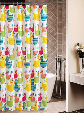 Színes Aranyos Cartoon Ducks zuhanyfüggöny
