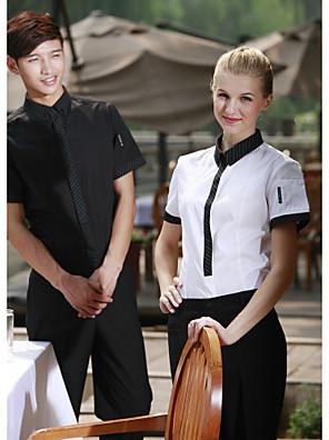 restaurace uniformy krátký rukáv číšník halenky se sponou