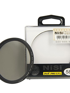 nisi® 58mm pro CPL ultra dunne circulaire polarisator lensfilter