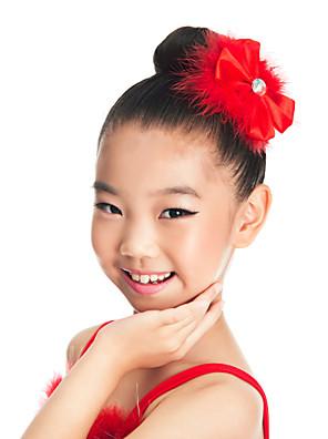 Acessórios de Dança Decoração de Cabelo Crianças Treino Cetim / Penas