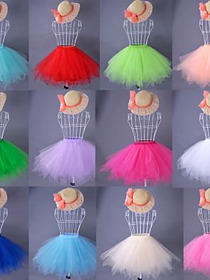 תחתונית  סליפ שמלת נשף באורך ברך טפטה / סאטן / אורגנזה לבן / שחור / אדום / כחול / ירוק / ורוד / כתום / בז'