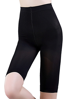 Stahovací spodní prádlo Prodyšnost / Nositelný / Nešmodrchá se Nylon / elastan / Čínský nylon Hladký Délka po kolena Středně vysoký pas