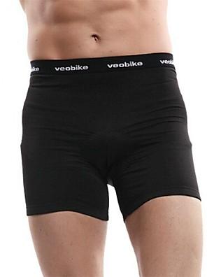VEOBIKE® תחתוניות לרכיבה לגברים נושם / ייבוש מהיר אופניים מכנסיים קצרים הלבשה תחתונה / תחתיות 100% פוליאסטר אחיד רכיבה על אופניים/אופנייים