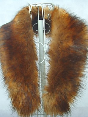 moda imitação de raposa xale gola de pele de imitação de peles de mulheres cachecol