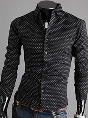 huizi férfi divat alkalmi állvány galléros pamut vékony pólók