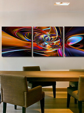 Op gespannen doek kunst Abstracte High Way Set van 3