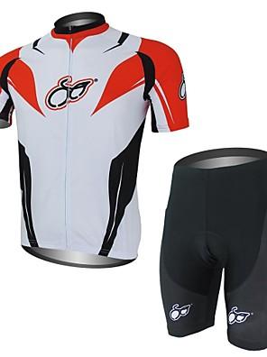 XAOYO® חולצת ג'רסי ומכנס קצר לרכיבה לגברים שרוול קצר אופניים ייבוש מהיר / כיס אחורי מדים בסטים פוליאסטר / 100% פוליאסטר קיץרכיבה על