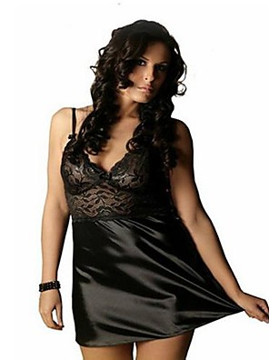 Women Lace Lingerie/Robes/Satin & Silk/Ultra Sexy Nightwear , Lace/Satin