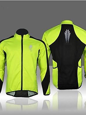 WEST אופניים® ג'קט לרכיבה לגברים שרוול ארוך אופניים נושם / שמור על חום הגוף / עמיד / בטנת פליז / רצועות מחזירי אור מעילי פליז גיזות טלאים