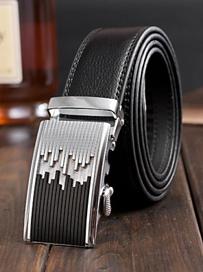 lazer de alta qualidade bukle automática cinto de couro genuíno dos homens