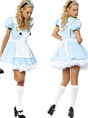 Cosplay Kostýmy / Kostým na Večírek Pohádkové Festival/Svátek Halloweenské kostýmy Modrá Patchwork Šaty Halloween / Karneval Dámské