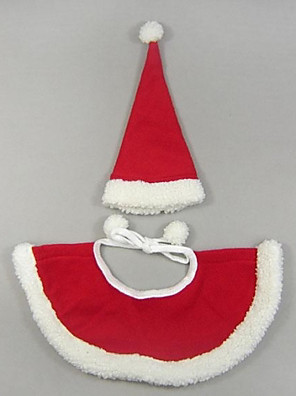 pejsky Kostýmy / šátky a kloboučky Červená Oblečení pro psy Zima Jednobarevné Roztomilé / cosplay / Vánoce