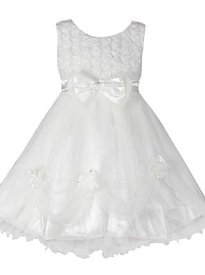 שמלה פרחוני כותנה אורגנית / אורגנזה קיץ / סתיו לבן הילדה של