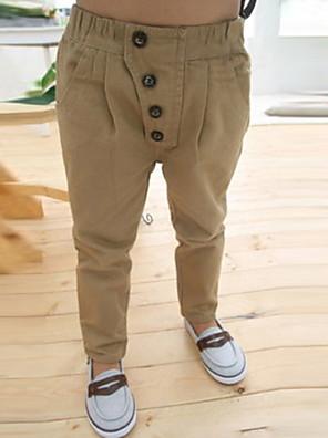 מכנסיים דפוס כותנה / פוליאסטר כל העונות הילד של