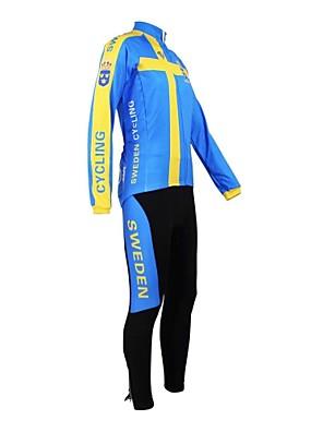 KOOPLUS® Cyklodres a čapáky Dámské / Pánské / Unisex Dlouhé rukávy Jezdit na kole Prodyšné / Voděodolný zip / Nositelný / Reflexní pásky