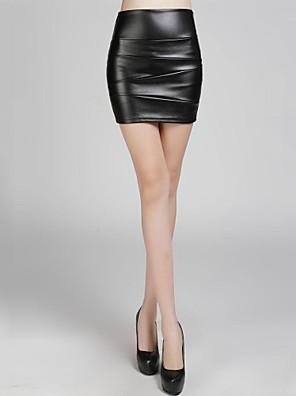 גבוהות מותן של incern®women מצוידים חצאיות עור קצרות (יותר צבעים)