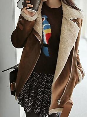 מעיל של נשים אבזם דש (עם חגורה) (יותר צבעים)