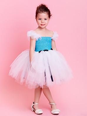 בגדי ריקוד לילדים שמלות / טוטוס בגדי ריקוד ילדים אימון טול אבנט / סרט בלי שרוולים טבעי 1-3y:40cm   4-7y:47cm   8-12y:57cm