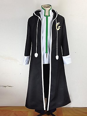 Inspirovaný Fairy Tail Gerard Fernandes Anime Cosplay kostýmy Cosplay šaty Patchwork Czarny Dlouhé rukávy Kabát / Kalhoty / Spodní prádlo