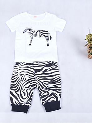 Girl's Clothing Set,Cotton Summer Animal Print