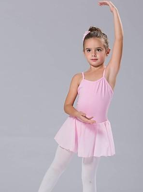 בגדי ריקוד לילדים טוטוס / שמלות בגדי ריקוד נשים / בגדי ריקוד ילדים כותנה קשת (תות) בלי שרוולים