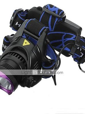 Iluminação Lanternas de Cabeça LED 2200 Lumens 3 Modo Cree XM-L2 18650.0 Prova-de-Água / RecarregávelCampismo / Escursão / Espeleologismo