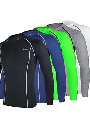 Arsuxeo® Camisa para Ciclismo Homens Manga Comprida MotoRespirável / Secagem Rápida / Design Anatômico / Anti-Estático / Materiais Leves