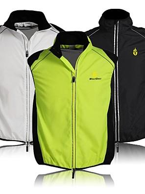 WOLFBIKE® Cyklo bunda Unisex Bez rukávů Jezdit na koleProdyšné / Rychleschnoucí / Větruvzdorné / Přední zip / Lehké materiály / Reflexní