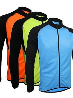Arsuxeo® חולצת ג'רסי לרכיבה לגברים שרוול ארוך אופניים נושם / ייבוש מהיר / עיצוב אנטומי / רוכסן קדמי ג'רזי / צמרות פוליאסטר / 100% פוליאסטר