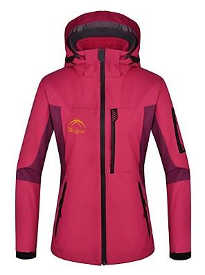 לנשים ז'קטים לנשים / ז'קטים לחורף / מעילי 3 ב 1 סקי / מחנאות וטיולים עמיד למים / שמור על חום הגוף / עמיד / בטנת פליז / גיזה נשלפת חורף