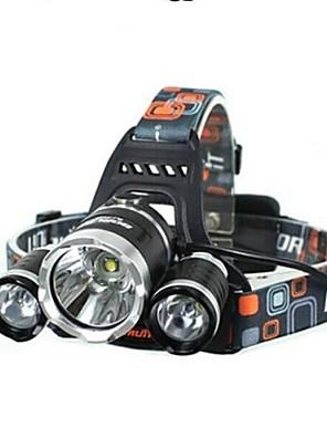 Luzes de Bicicleta LED 4.0 Modo 5000 Lumens Prova-de-Água / Recarregável / Resistente ao Impacto Cree XM-L T6 18650.0Campismo / Escursão