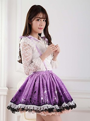 lilla pen lolita løvetann prinsesse kawaii skjørt nydelig cosplay