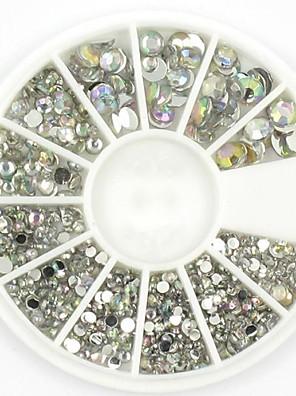 Mischgrößen weißen Kristallnagelkunst Rhineacryl ab-Schmuck leuchtet Maniküre Design