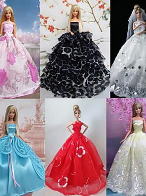 belle robe de poupée barbie princesse de partie de style de fées (6 pièces)