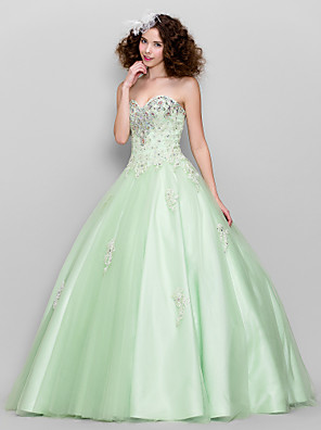 TS Couture® Prom / Formal Evening Dress Plus Size / Petite Ball Gown Sweetheart Floor-length Tulle with Appliques / Beading / Crystal Detailing