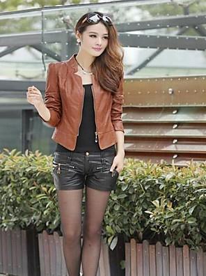 חצרות גדולות עור PU האופנה של yuntuo®women של מעיל 11