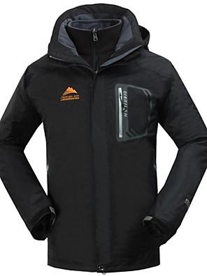 Homens Jaqueta / Jaqueta de Inverno / Blusas Acampar e Caminhar / Pesca / Alpinismo Impermeável / Mantenha Quente / Velo removívelOutono