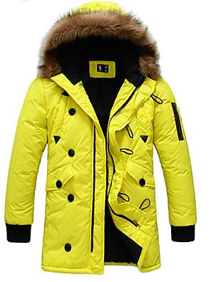 moletom com capuz casaco térmico cor sólida dos homens Kathy