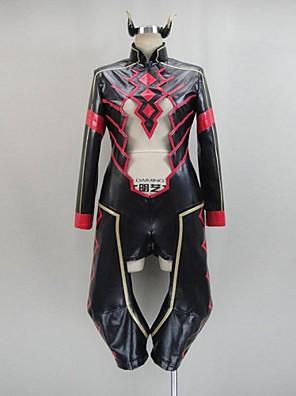 Inspirovaný Akame Ga zabít! Cosplay Anime Cosplay Kostýmy Cosplay šaty Patchwork Czarny / Czerwony Dlouhé rukávyLeotard / Vlasové ozdoby