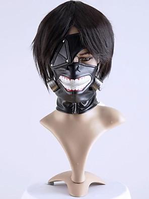 Maska Inspirovaný Tokyo Ghoul Cosplay Anime Cosplay Doplňky Maska Czarny Šifón Pánský / Dámský