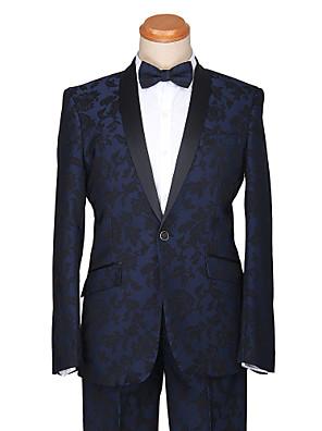smokingy na míru FIT šátek límec jedním tlačítkem bavlna / polyester vzory 2 ks tmavě modrá