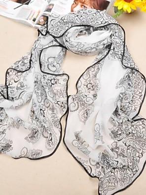 sjalar chiffong / polyester elegant utskrifts halsdukar (fler färger)