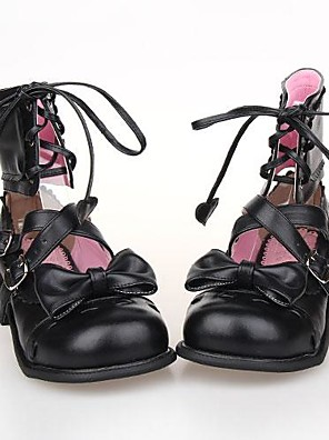 Pink PU Leather 2.5CM EVA Sweet Lolita Shoes with Row